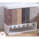 صندوق تخزين حبوب بلاستيك شفاف ,Happy