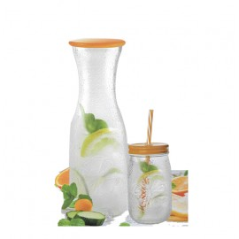 Glass jug & 4 cups ,1070980481082 , Happy-  1.4 liters