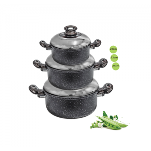 A set of black granite jugs 3 pieces