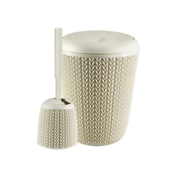 Waste pail and two rotten brush