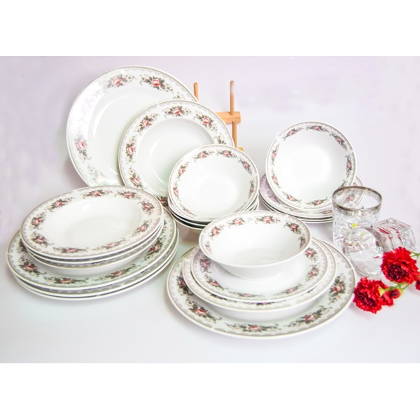 Dishes set 24 pieces, 219-2292, Happy
