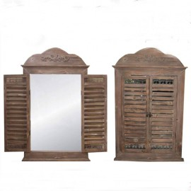 Decorative window of wood with mirrors, 999999,  Happy