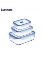 طقم 3 تبرويلات زجاج فرنسي luminarc , 883314428797