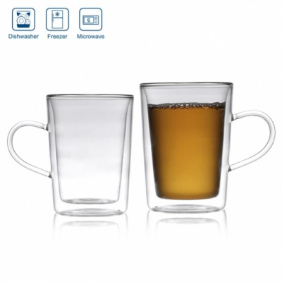 Double Shielded Heat Insulation Case 280 ml With a hand  glass 72901160999