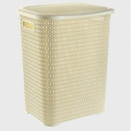 Plastic wash basket color 45 L, 7019, Rattan