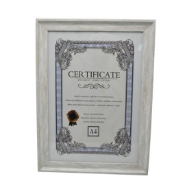 Photo frame A4, 9188479, - A certificate frame HAPPY Wood 20 * 28 cm