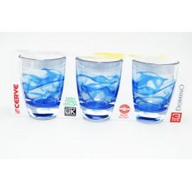 Cup, cerve short wavy blue